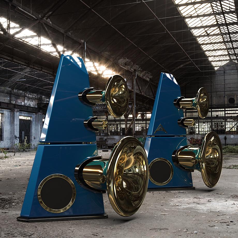 Horn blue