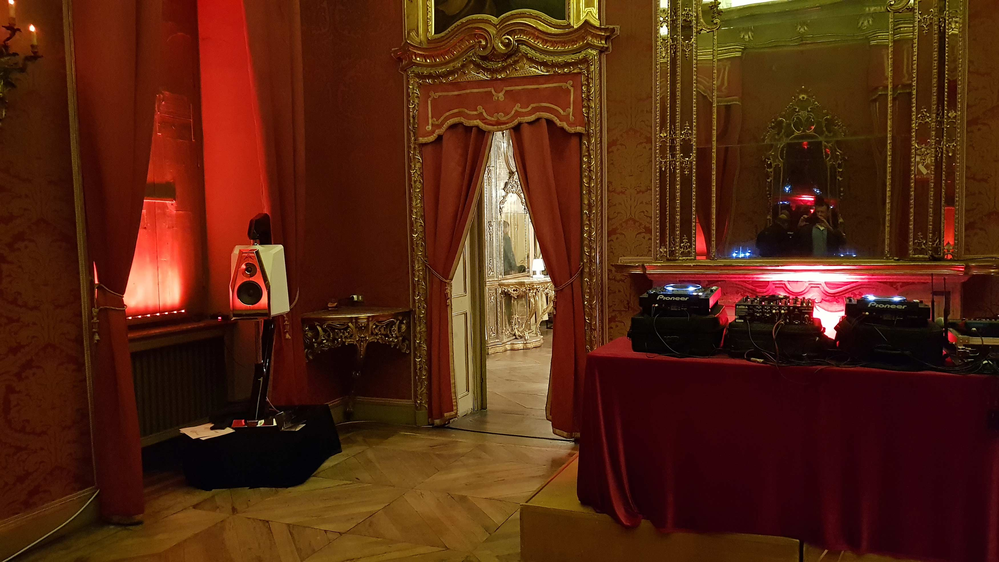 Audiovisual Art in red room Turin